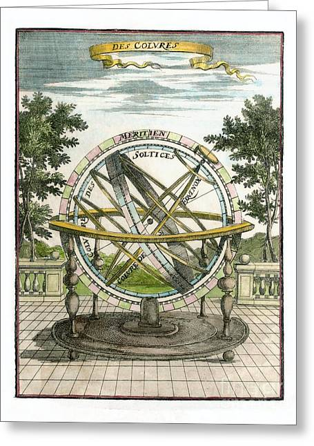 French Language Greeting Cards - Armillary Sphere, 17th Century Artwork Greeting Card by Detlev van Ravenswaay