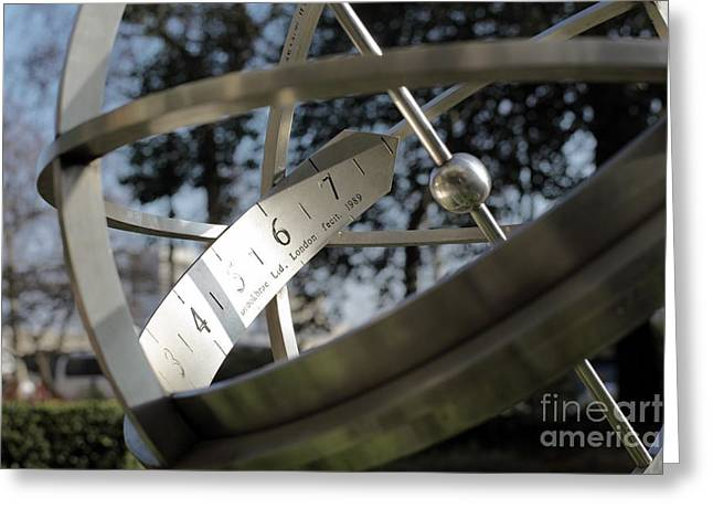 Stainless Steel Greeting Cards - Armillary Sundial Greeting Card by Martin Bond