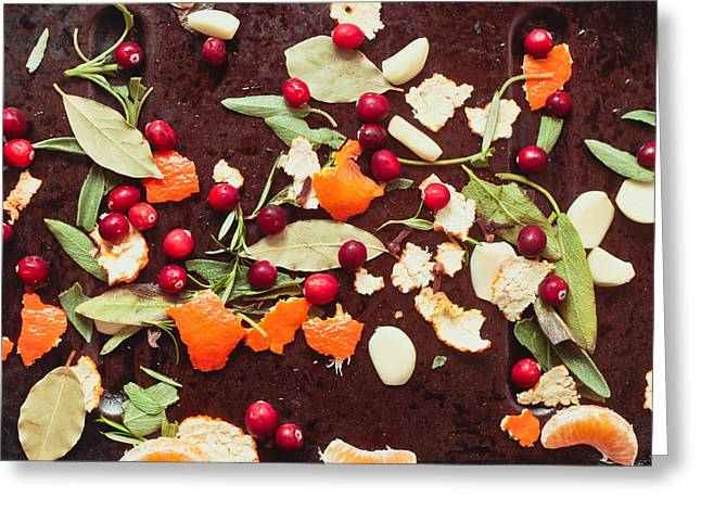 Segment Greeting Cards - Aromatic ingredients Greeting Card by Tom Gowanlock