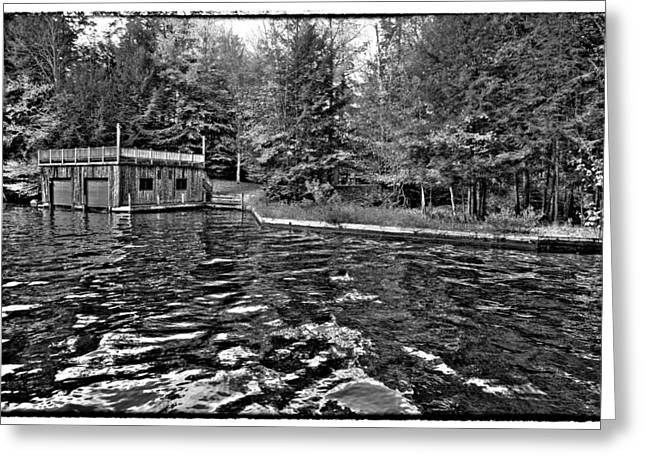Arrowhead Park Waterway In Inlet New York Greeting Card by David Patterson