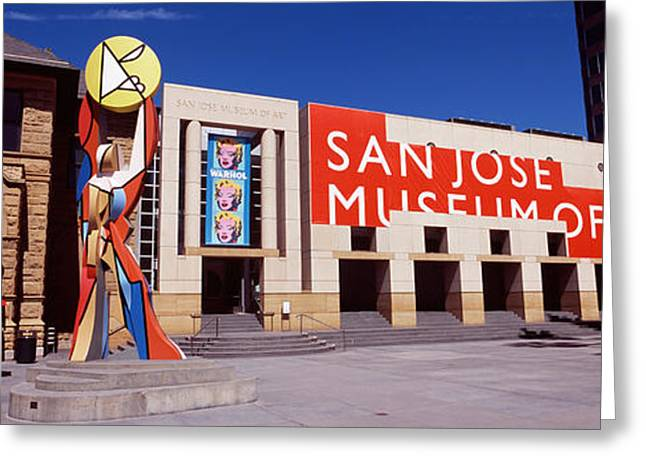Silicon Greeting Cards - Art Museum In A City, San Jose Museum Greeting Card by Panoramic Images