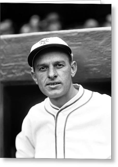 Baseball Photographs Greeting Cards - Arthur C. Art Jahn Greeting Card by Retro Images Archive