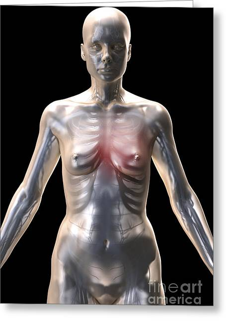Artificial Life Greeting Cards - Artificial Life Female Android Greeting Card by Science Picture Co