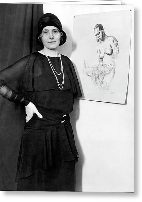 Artist Caroline Mytinger Greeting Card by Underwood Archives