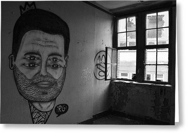 Artwork And Graffiti In An Abandoned Apartment - Berlin Greeting Card by Mountain Dreams