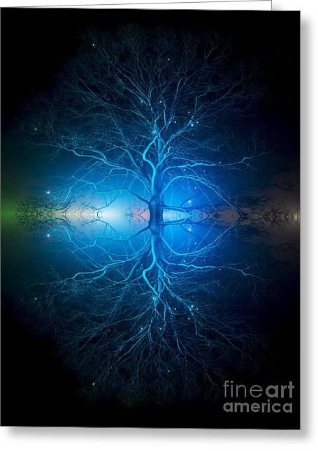 Trance Greeting Cards - As Above So Below Greeting Card by Tim Gainey