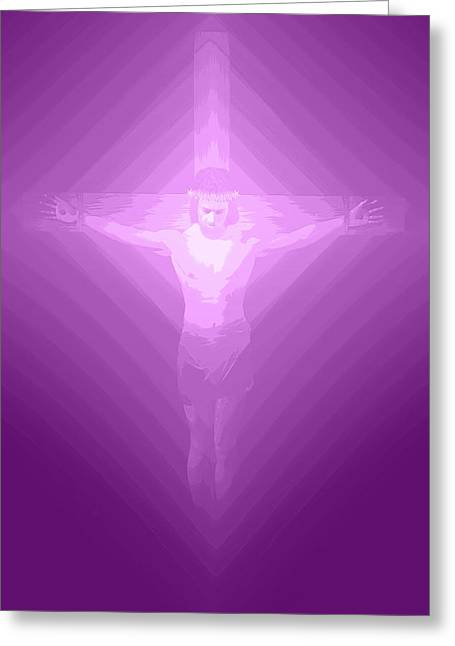 Calvary Digital Greeting Cards - Ascension.  Greeting Card by Carol and Mike Werner
