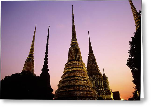 Asia, Thailand, Bangkok, Temple Wat Pho Greeting Card by Tips Images
