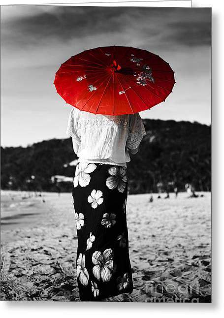 China Beach Greeting Cards - Asian Holiday Greeting Card by Ryan Jorgensen