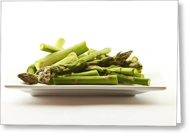 Healthy Greeting Cards - Asparagus Greeting Card by Cecil Fuselier