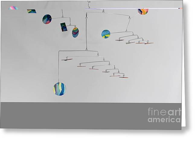 Wire Mobile Greeting Cards - Asteroids Mobile Greeting Card by Carolyn Weir