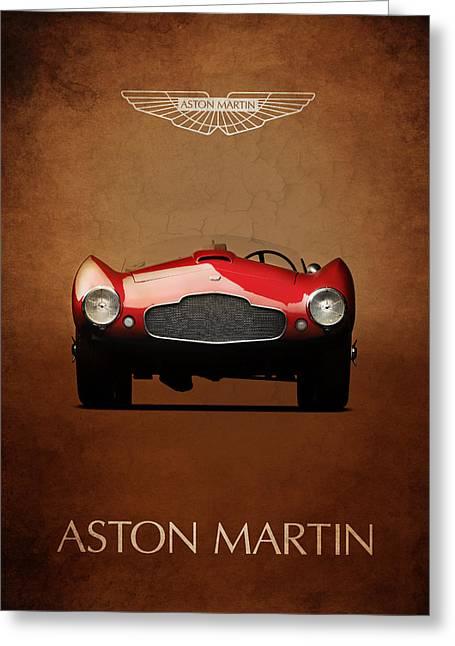 Aston Martin Greeting Cards - Aston Martin DB2 Greeting Card by Mark Rogan