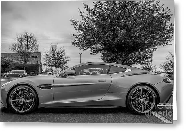 Trix Greeting Cards - Aston Martin Vanquish V12 coupe Greeting Card by Robert Loe