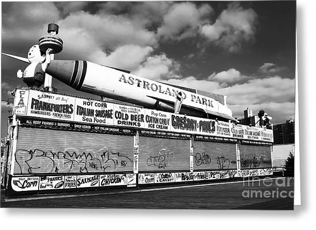 Historic Ship Greeting Cards - Astroland Park Greeting Card by John Rizzuto