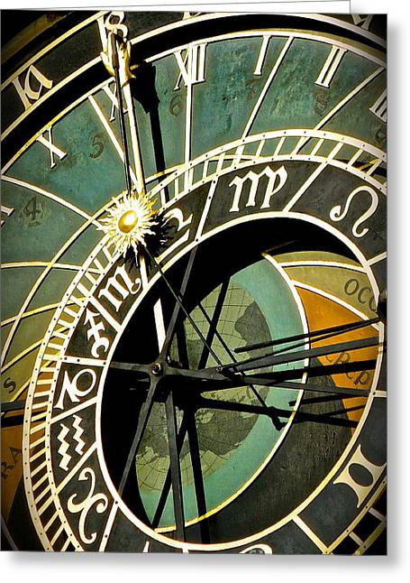 Large Clock Greeting Cards - Astrological Clock  Greeting Card by Brad Gravelle