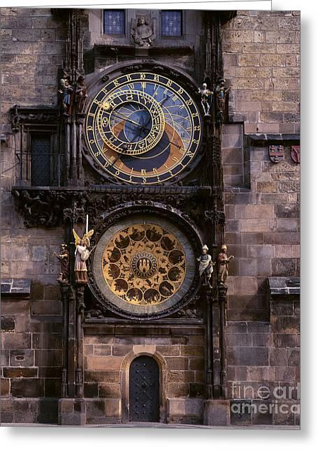Astronomical Clock Greeting Cards - Astronomical Clock Prague Greeting Card by Rafael Macia