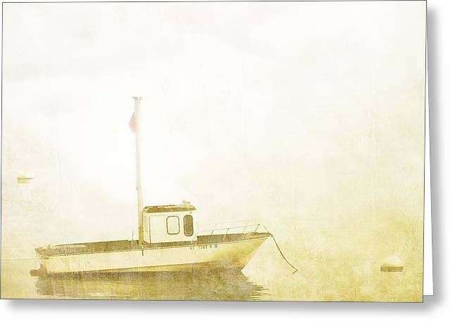 Maine Coast Greeting Cards - At Anchor Bar Harbor Maine Greeting Card by Carol Leigh