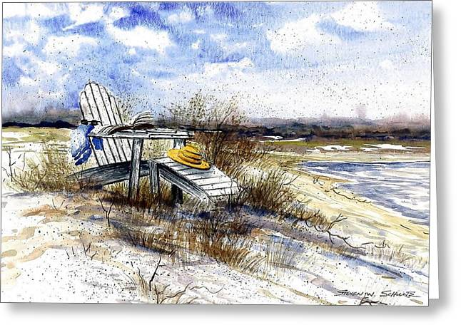 At The Beach Greeting Card by Steven Schultz