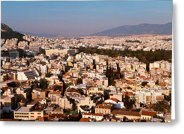Sprawl Greeting Cards - Athens, Greece Greeting Card by Panoramic Images