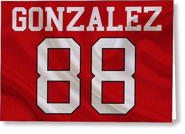 Gonzalez Greeting Cards - Atlanta Falcons Tony Gonzalez Greeting Card by Joe Hamilton