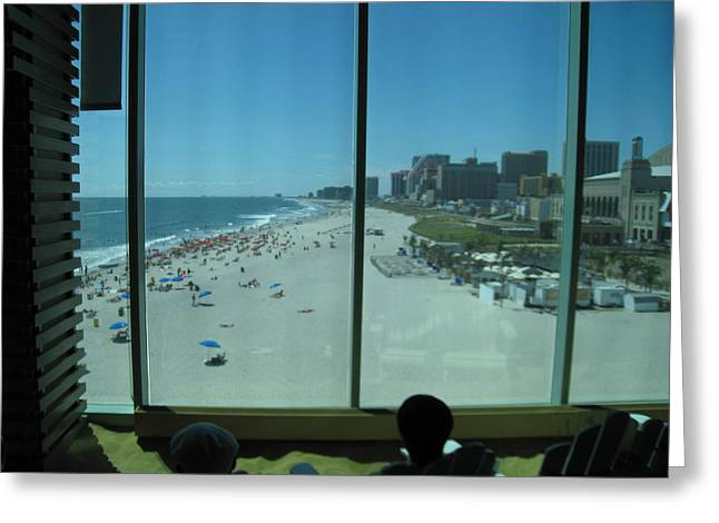 Sand Photographs Greeting Cards - Atlantic City - 01134 Greeting Card by DC Photographer