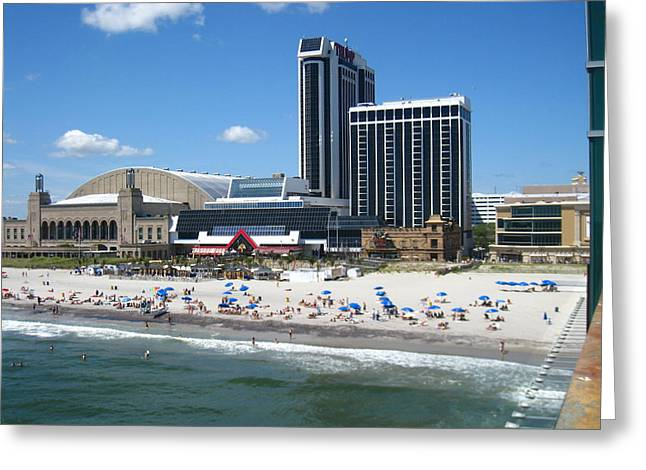 Swim Greeting Cards - Atlantic City - 01135 Greeting Card by DC Photographer