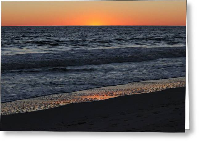 Sunset Posters Greeting Cards - Atlantic Sunset III Greeting Card by Suzanne Gaff