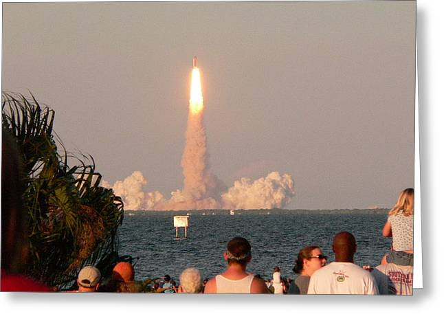 Atlantis Shuttle Launch Greeting Card by David Bearden