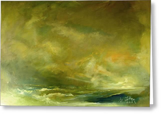 Julianne Felton Greeting Cards - Atmospheric Seascape  Greeting Card by Julianne Felton