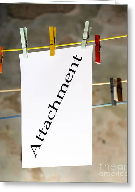 Attachment Greeting Cards - Attachment Greeting Card by Sinisa Botas