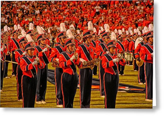 Auburn University Greeting Cards - Auburn University Marching Band Greeting Card by Mountain Dreams