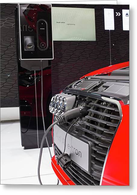 Audi A-3 E-tron Electric Car Greeting Card by Jim West