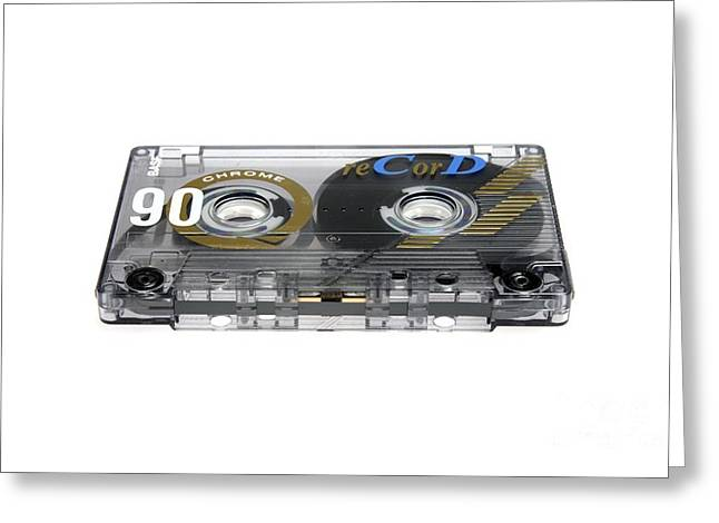 Audio Cassette Tape Greeting Card by Victor de Schwanberg