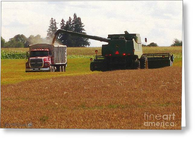 Mccombie Greeting Cards - August Harvest Greeting Card by J McCombie