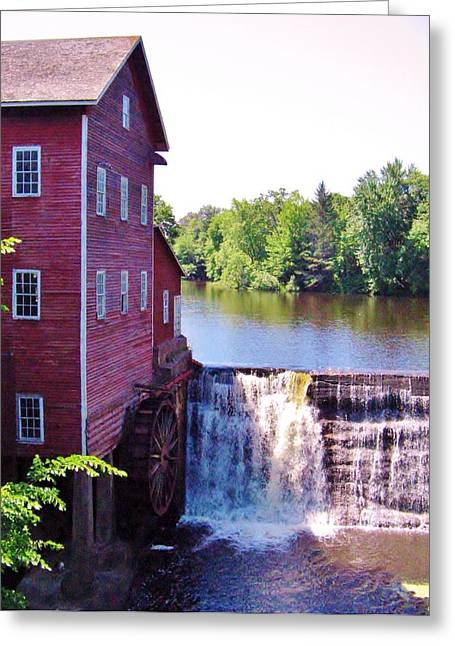 Mills Pyrography Greeting Cards - Augusta Wi Mill Greeting Card by Lowell Stevens