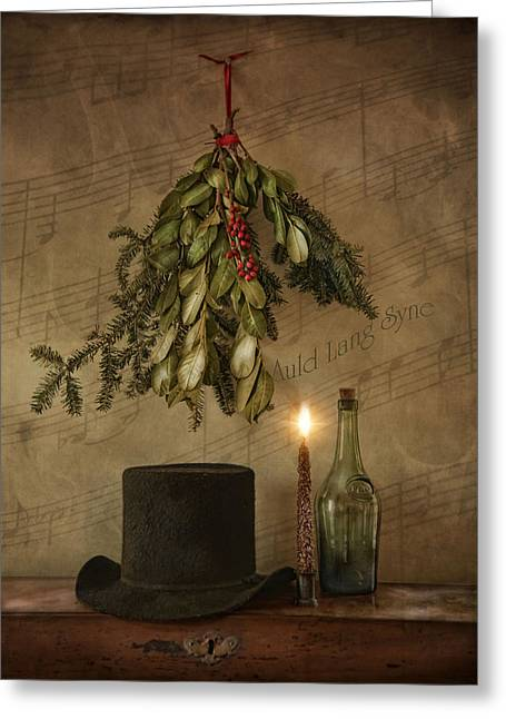 New Year Greeting Cards - Auld Lang Syne Greeting Card by Robin-lee Vieira