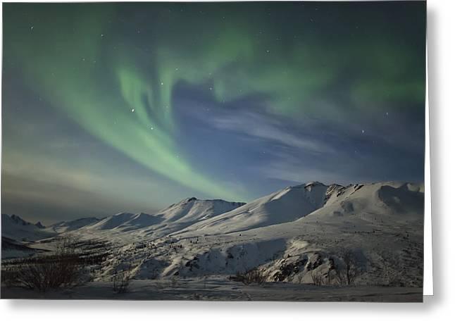 Aurora Borealis Dances Greeting Card by Robert Postma
