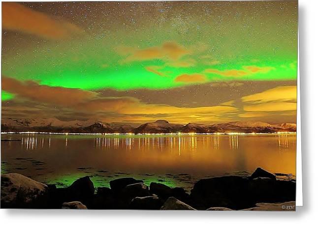 Sortland Greeting Cards - Aurora Borealis  Greeting Card by Per Ivar Hanssen