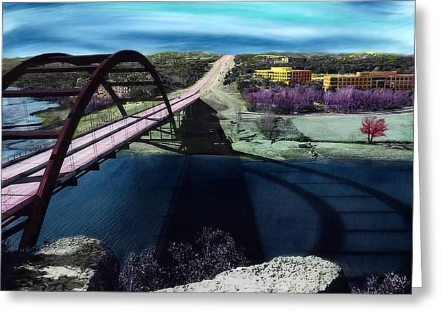Texas Bridge Greeting Cards - Austin 360 Bridge Greeting Card by Marilyn Hunt