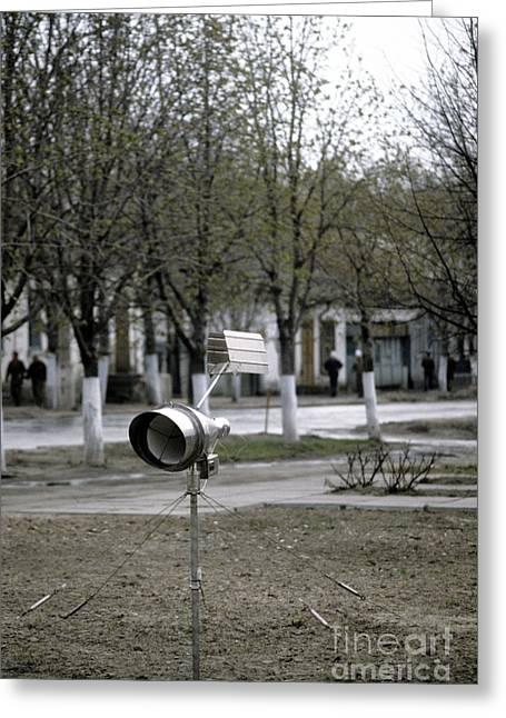 Radiation Greeting Cards - Automatic Radiation Meter, Chernobyl Greeting Card by RIA Novosti