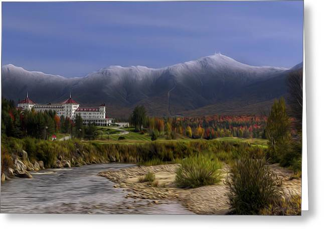 The Mount Washington Hotel Greeting Cards - Autumn at the Mount Washington Hotel Greeting Card by Christopher Whiton