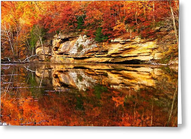 Indiana Autumn Greeting Cards - Autumn at Turkey Run Greeting Card by Norm Hoekstra