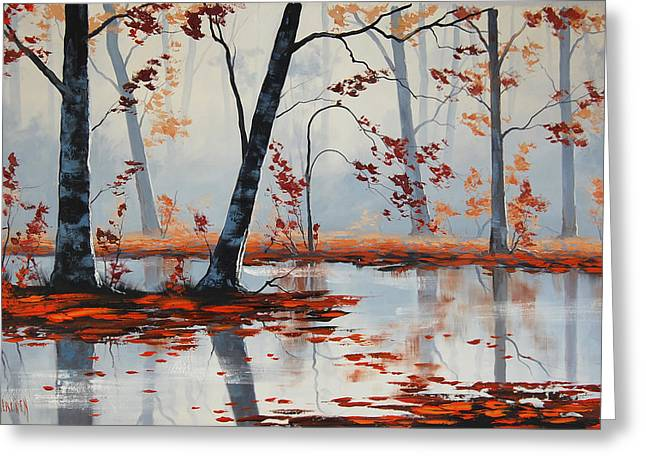 Fall Trees Greeting Cards - Autumn Blaze Greeting Card by Graham Gercken