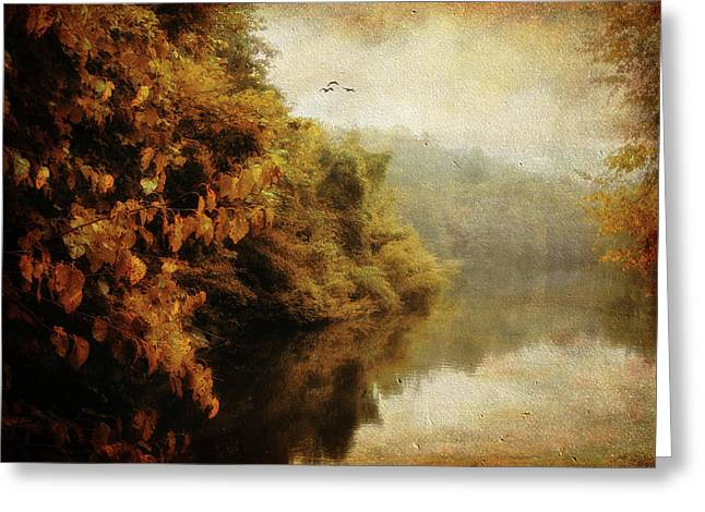 Autumn Landscape Digital Greeting Cards - Autumn Canvas Greeting Card by Jessica Jenney