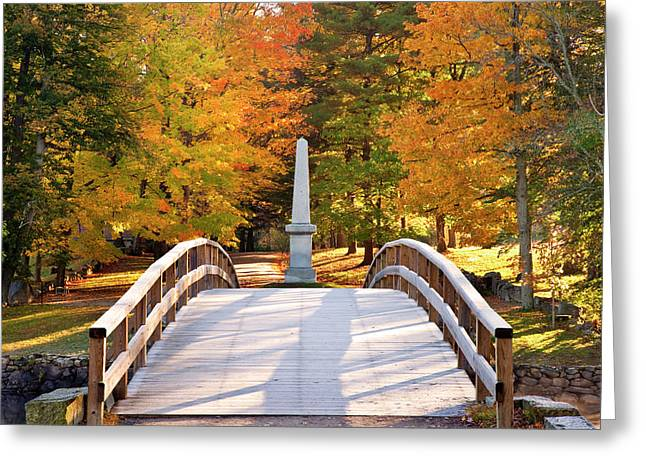 Autumn Dawn At The Historic Old North Greeting Card by Brian Jannsen