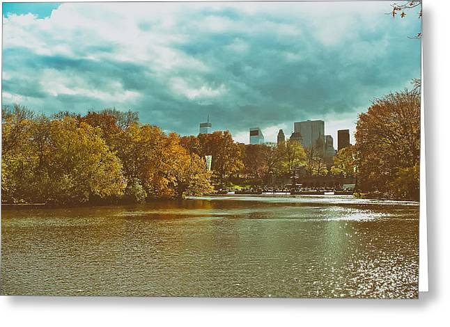 Central Park Photo Greeting Cards - Autumn in Central Park Greeting Card by Mountain Dreams