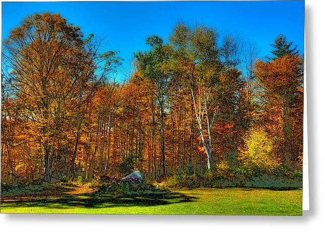 Surreal Landscape Greeting Cards - Autumn Landscape Greeting Card by David Patterson