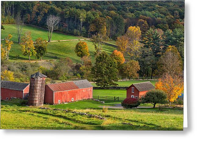 Classic New England Greeting Cards - Autumn Light Greeting Card by Bill  Wakeley