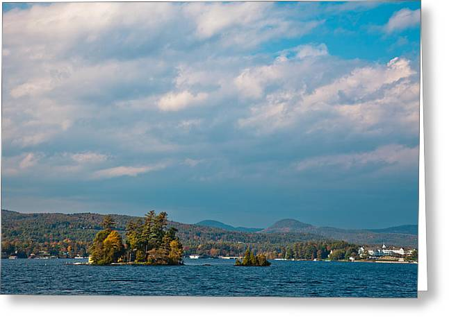 Autumn On Lake George Greeting Card by David Patterson