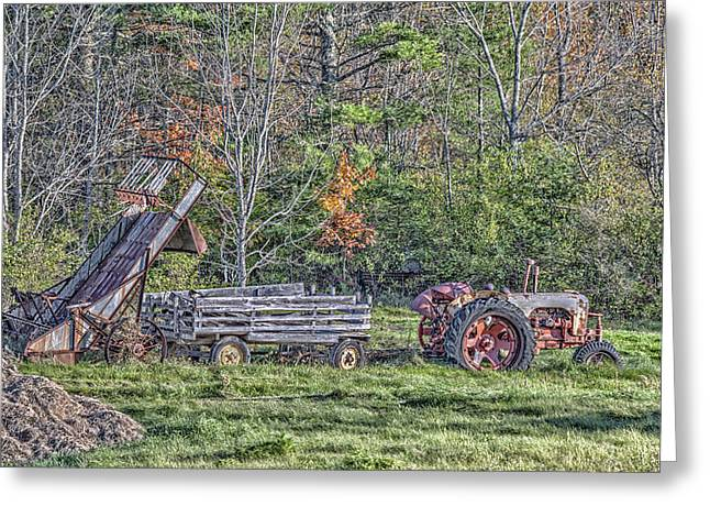 Maine Agriculture Greeting Cards - Autumn On The Farm Greeting Card by Richard Bean